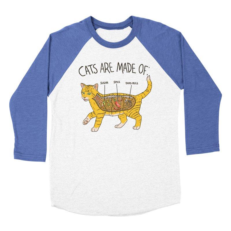 Cat Anatomy Women's Baseball Triblend Longsleeve T-Shirt by Hillary White