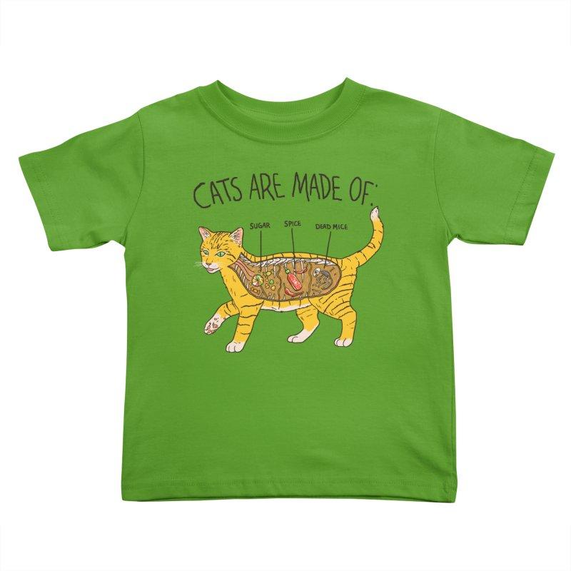 Cat Anatomy Kids Toddler T-Shirt by Hillary White