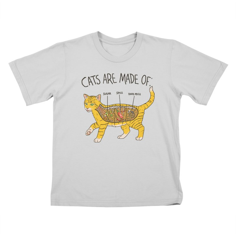 Cat Anatomy Kids T-Shirt by Hillary White