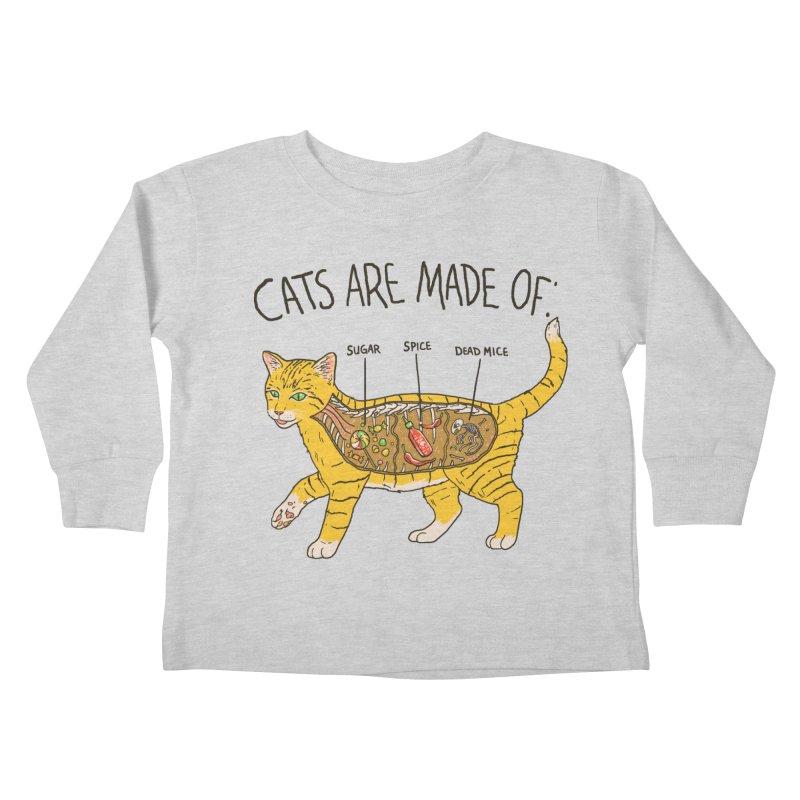 Cat Anatomy Kids Toddler Longsleeve T-Shirt by Hillary White