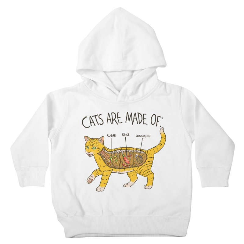 Cat Anatomy Kids Toddler Pullover Hoody by Hillary White