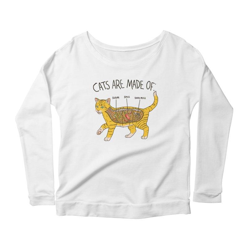 Cat Anatomy Women's Scoop Neck Longsleeve T-Shirt by Hillary White