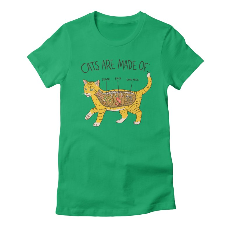 Cat Anatomy Women's Fitted T-Shirt by Hillary White