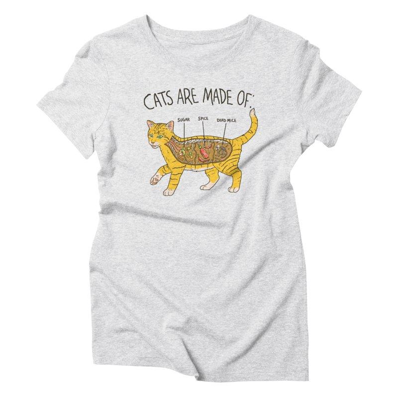 Cat Anatomy Women's Triblend T-Shirt by Hillary White