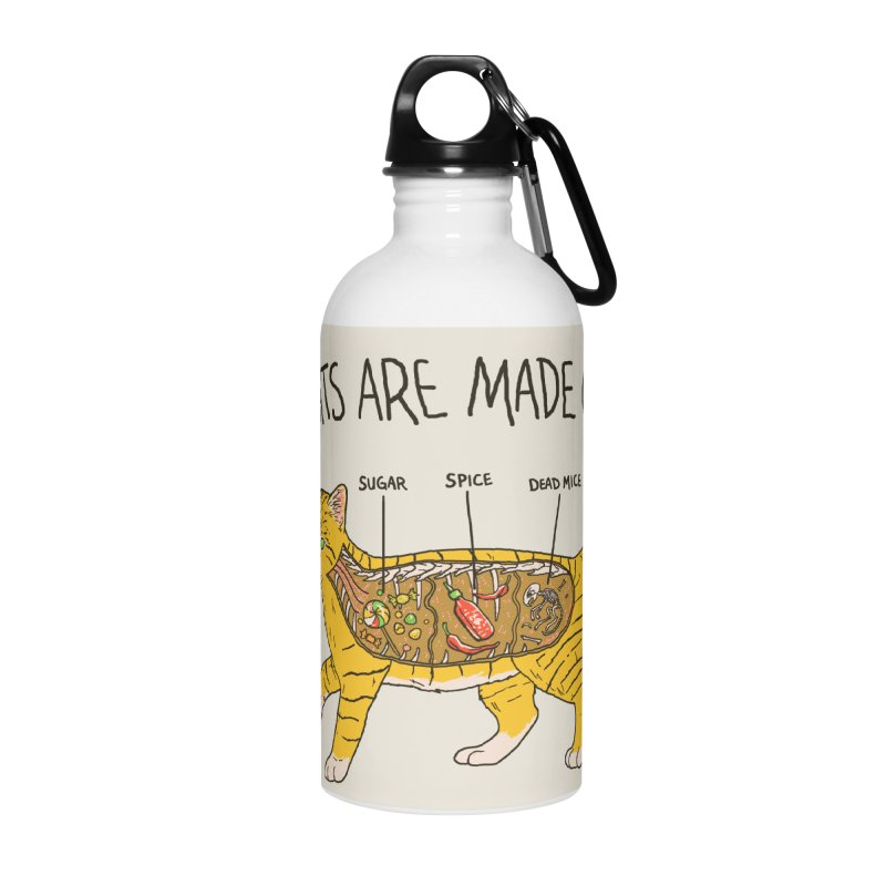 Cat Anatomy Accessories Water Bottle by Hillary White