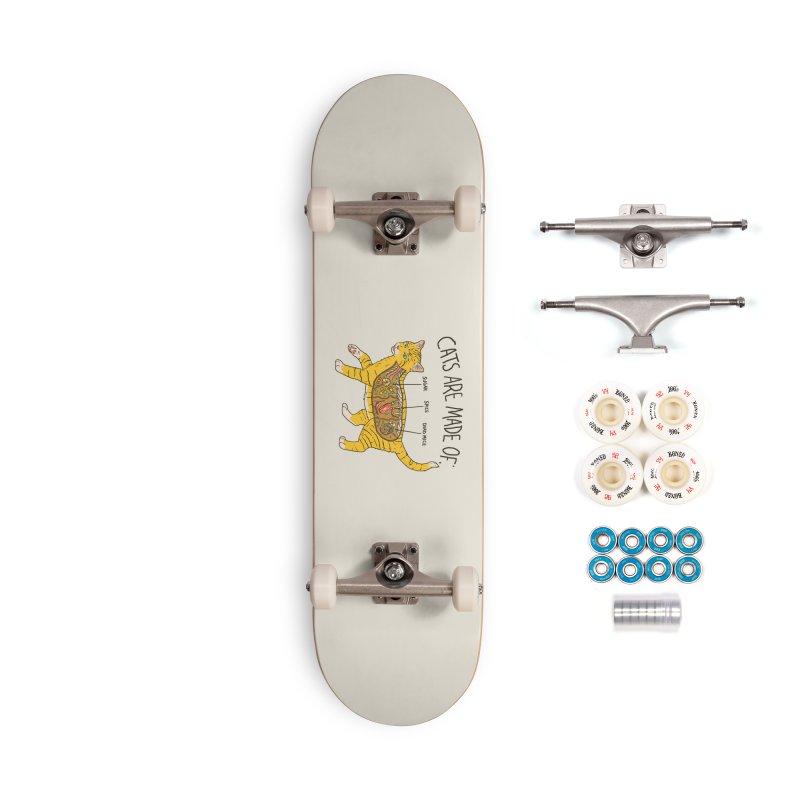Cat Anatomy Accessories Complete - Premium Skateboard by Hillary White
