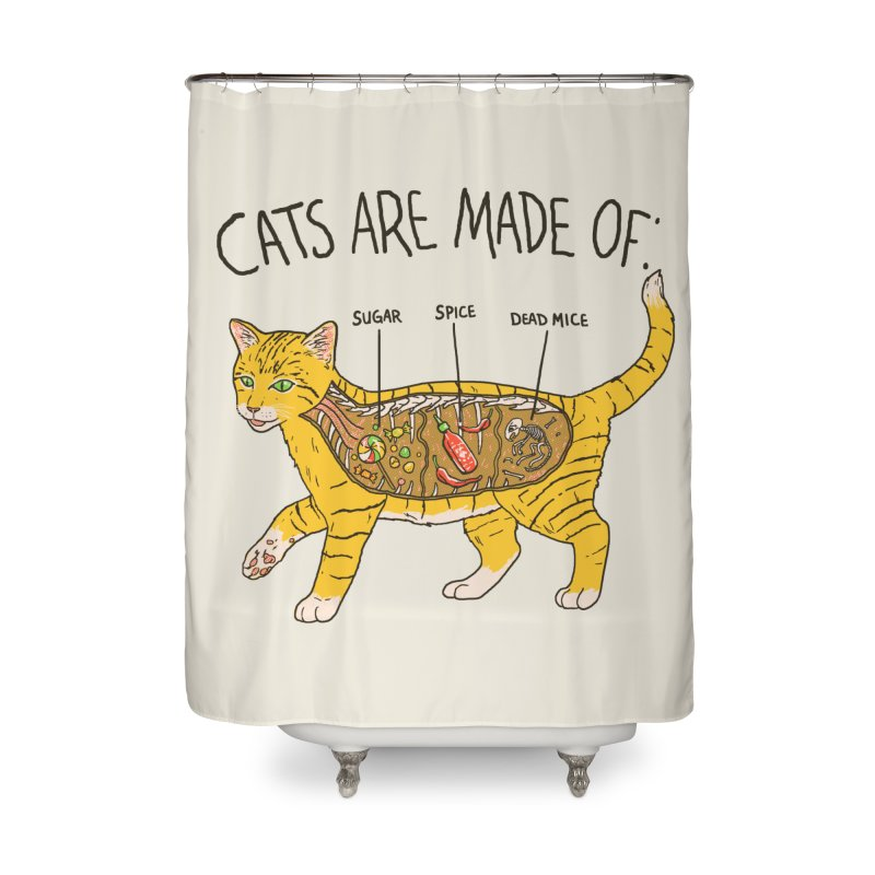 Cat Anatomy Home Shower Curtain by Hillary White
