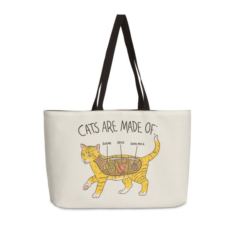 Cat Anatomy Accessories Weekender Bag Bag by Hillary White