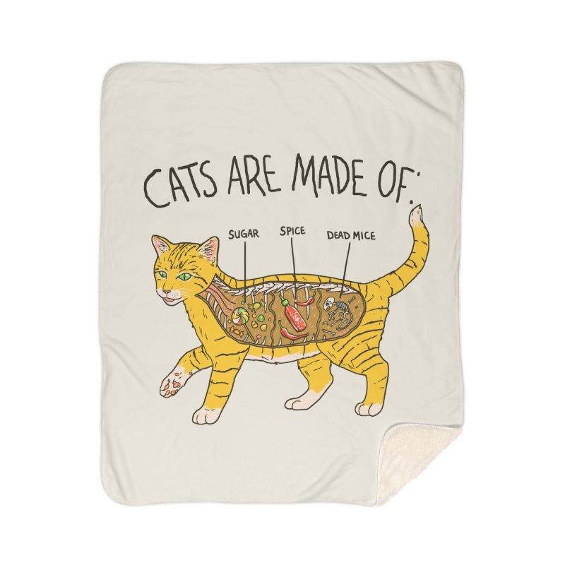 Cat Anatomy Home Sherpa Blanket Blanket by Hillary White