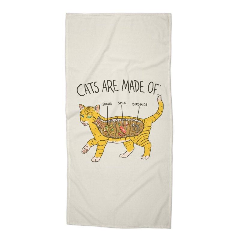 Cat Anatomy Accessories Beach Towel by Hillary White