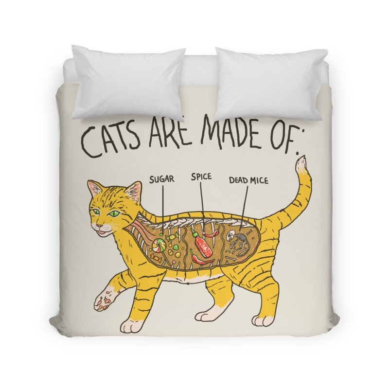 Cat Anatomy Home Duvet by Hillary White