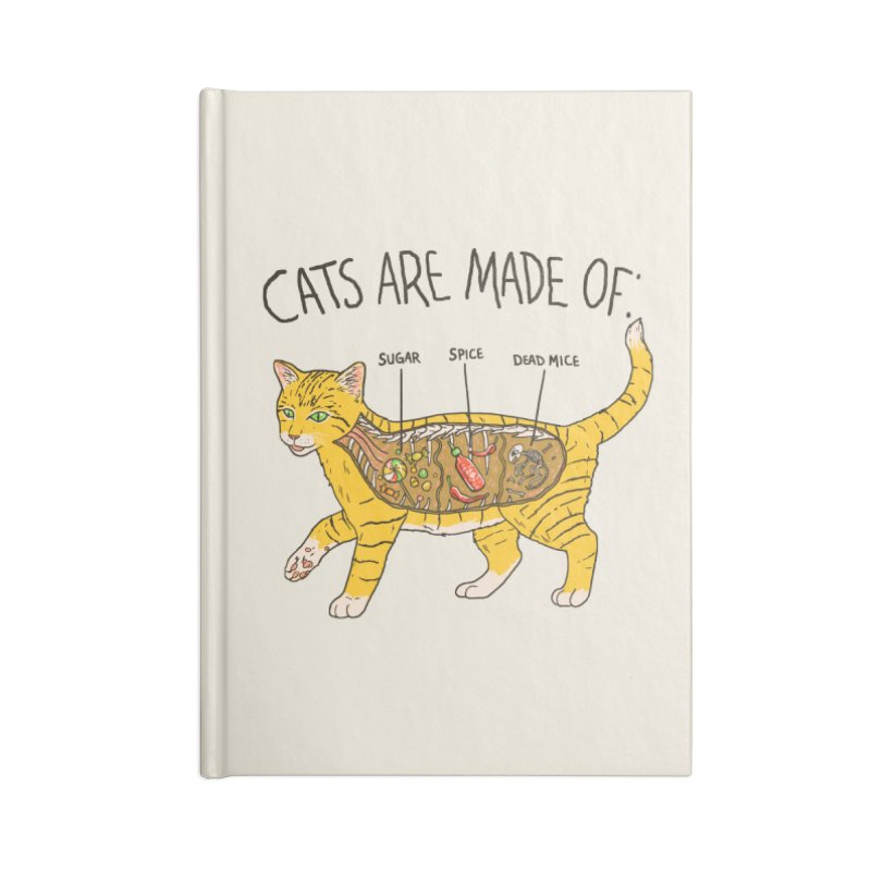 Cat Anatomy Accessories Blank Journal Notebook by Hillary White