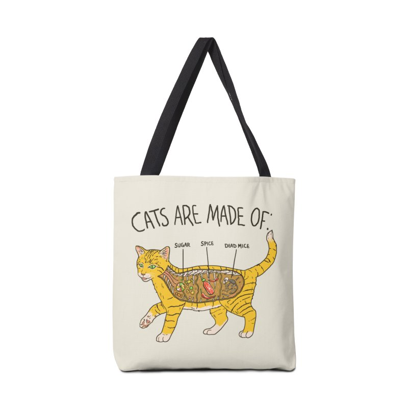 Cat Anatomy Accessories Tote Bag Bag by Hillary White