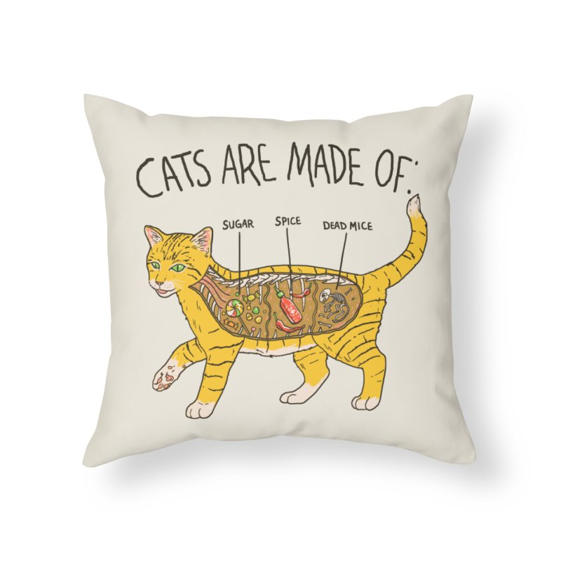 Cat Anatomy Home Throw Pillow by Hillary White
