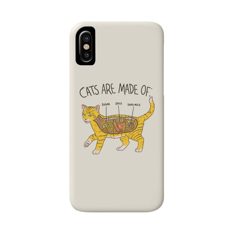 Cat Anatomy Accessories Phone Case by Hillary White