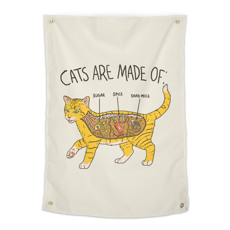 Cat Anatomy Home Tapestry by Hillary White