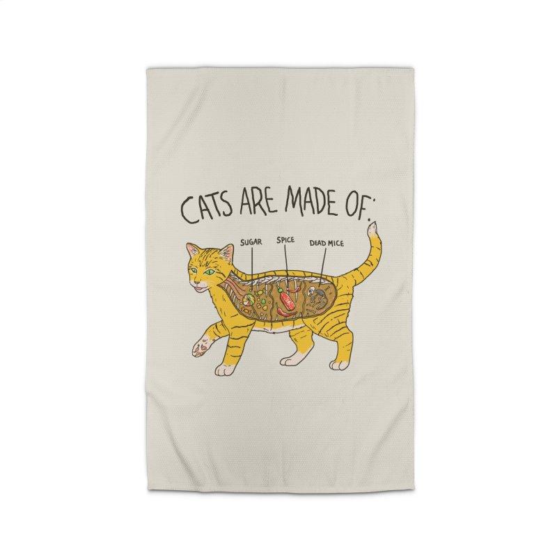 Cat Anatomy Home Rug by Hillary White