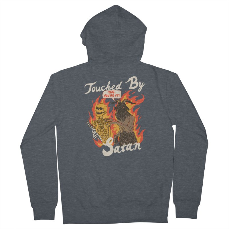 Touched By Satan Men's French Terry Zip-Up Hoody by Hillary White