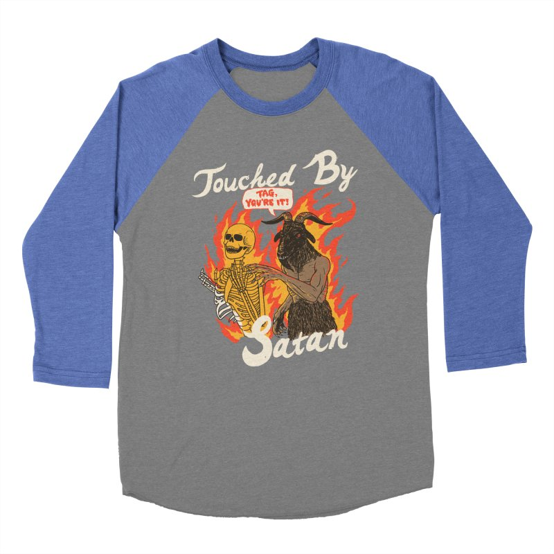 Touched By Satan Women's Baseball Triblend Longsleeve T-Shirt by Hillary White