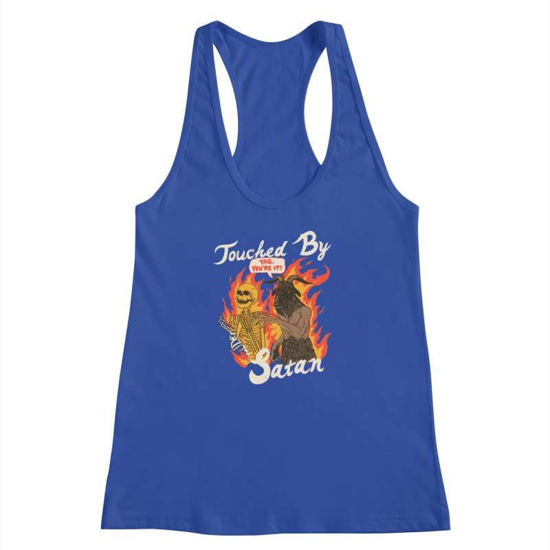 Touched By Satan Women's Racerback Tank by Hillary White