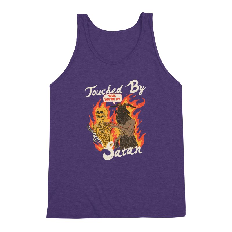Touched By Satan Men's Triblend Tank by Hillary White