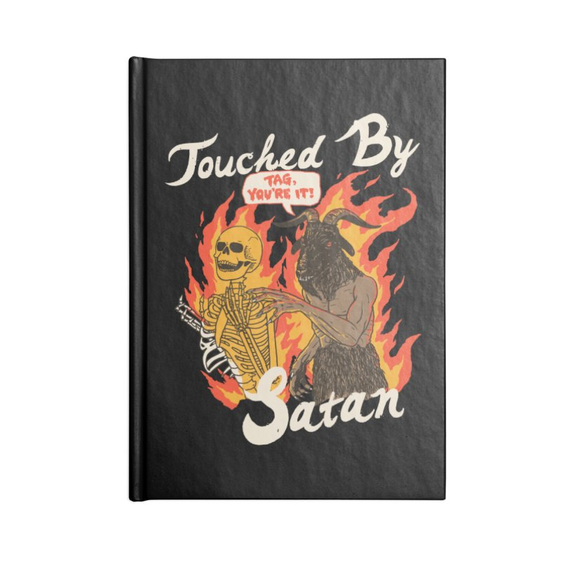 Touched By Satan Accessories Lined Journal Notebook by Hillary White