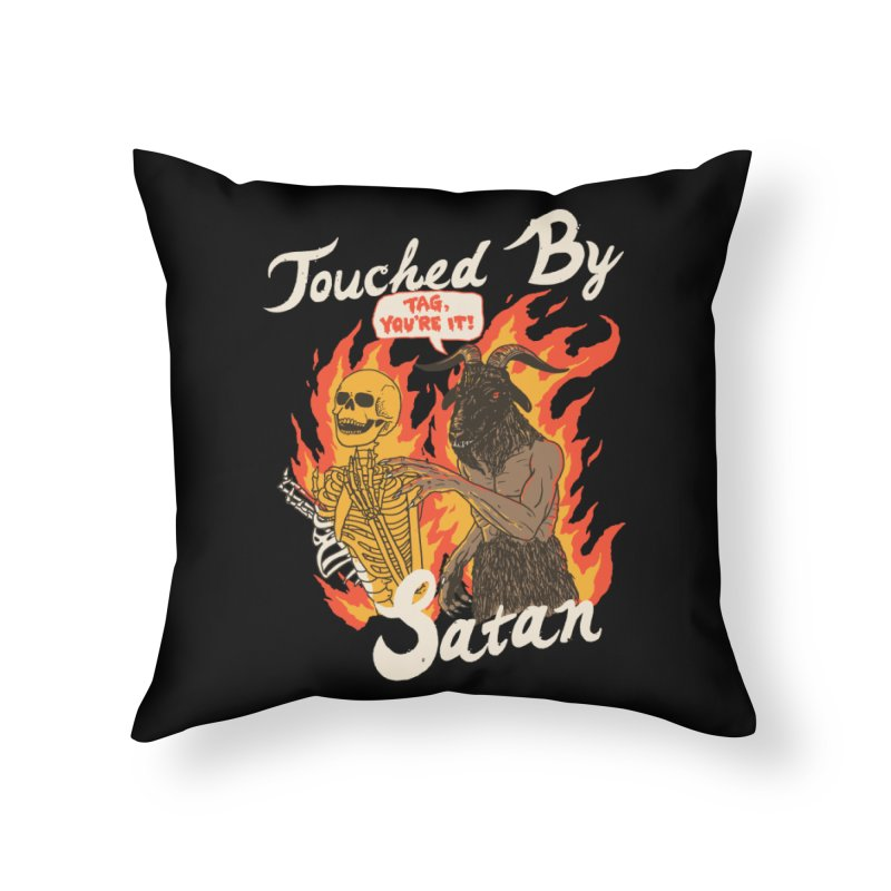 Touched By Satan Home Throw Pillow by Hillary White