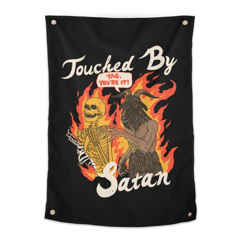 Touched By Satan Home Tapestry by Hillary White
