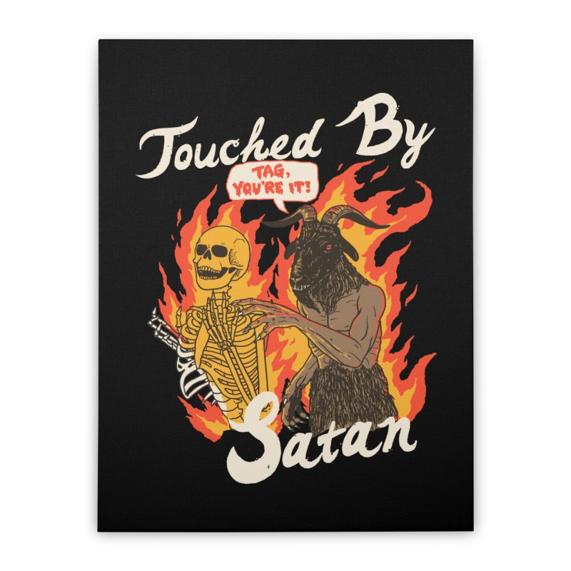 Touched By Satan Home Stretched Canvas by Hillary White