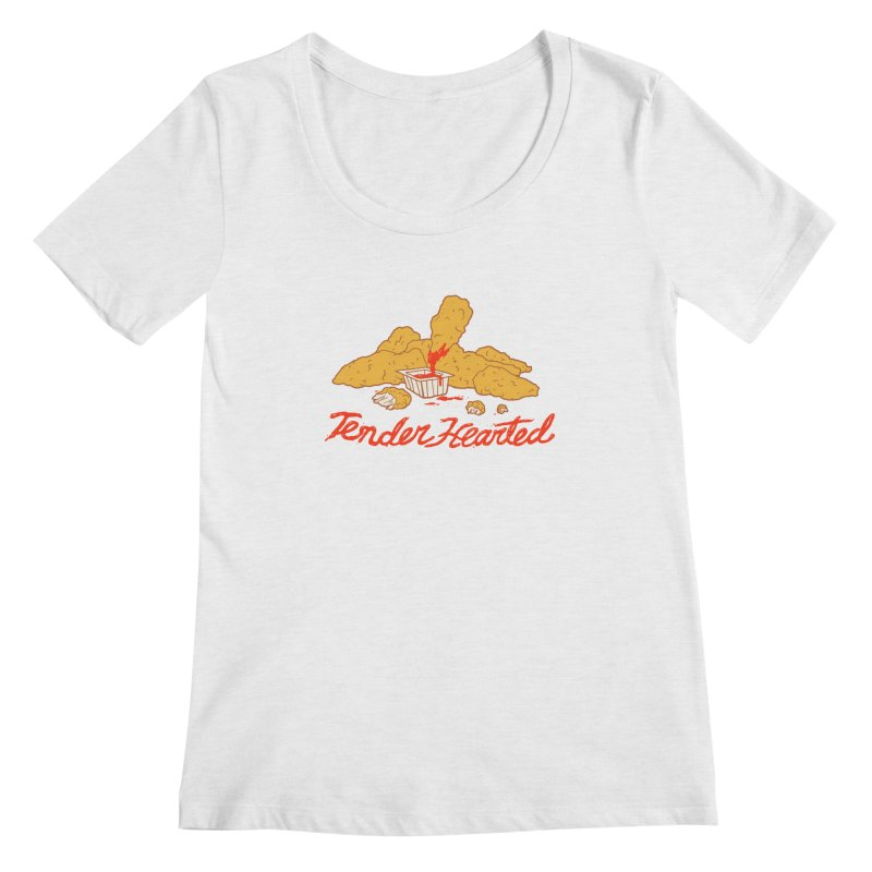 Tender Hearted Women's Scoop Neck by Hillary White