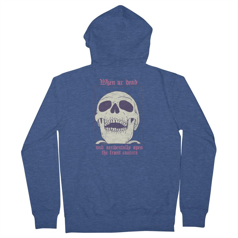 AcciDEADtal Selfie Men's French Terry Zip-Up Hoody by Hillary White