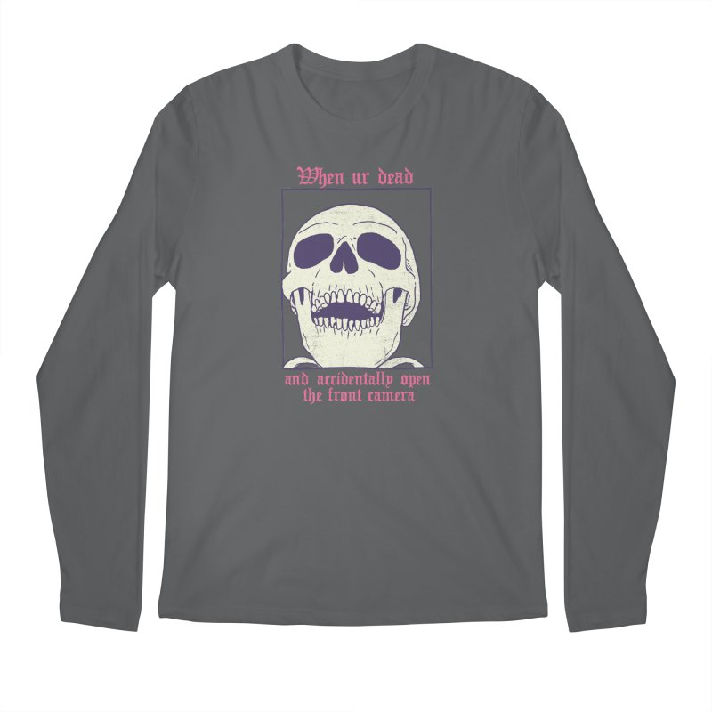 AcciDEADtal Selfie Men's Regular Longsleeve T-Shirt by Hillary White