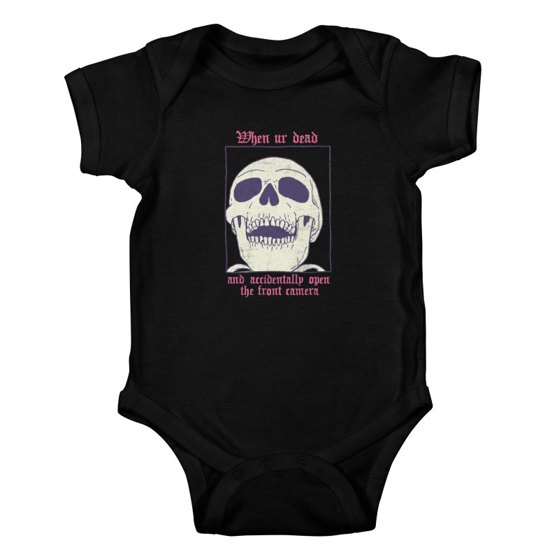 AcciDEADtal Selfie Kids Baby Bodysuit by Hillary White