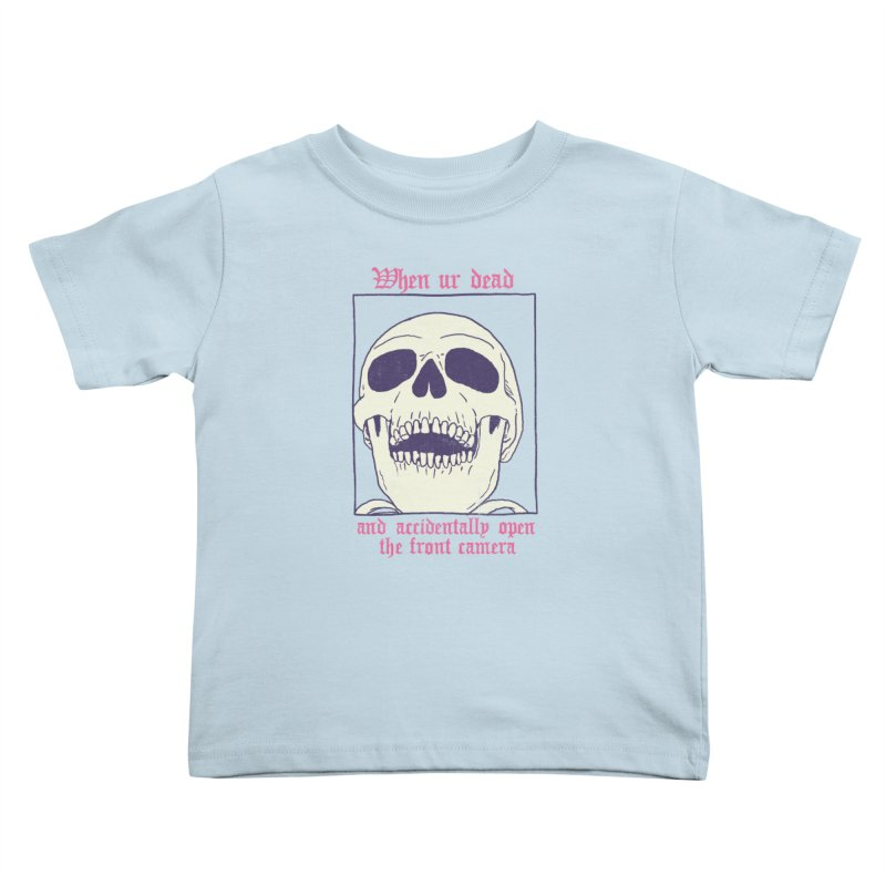 AcciDEADtal Selfie Kids Toddler T-Shirt by Hillary White