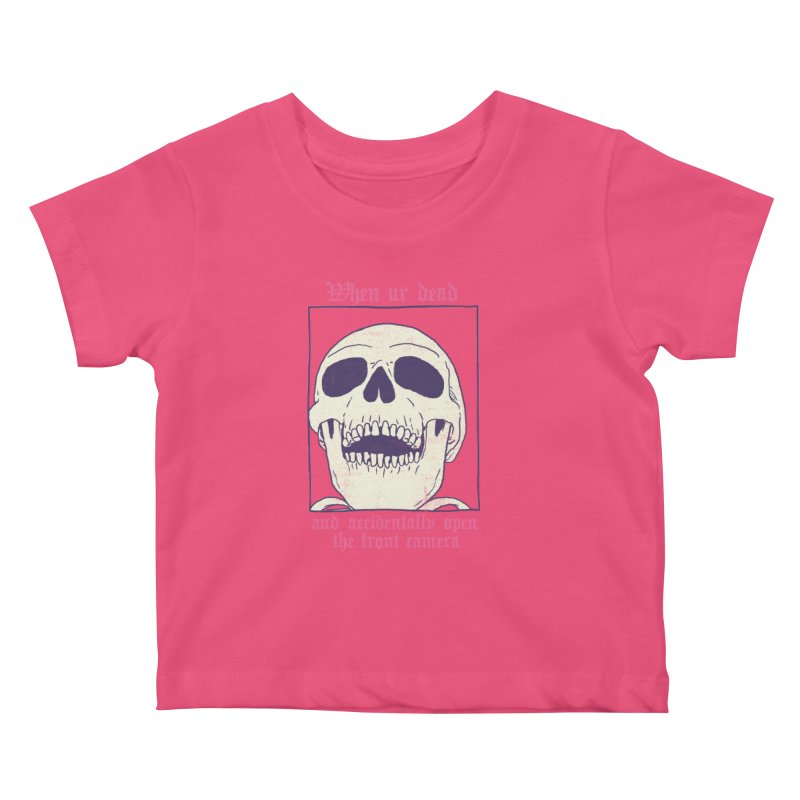 AcciDEADtal Selfie Kids Baby T-Shirt by Hillary White