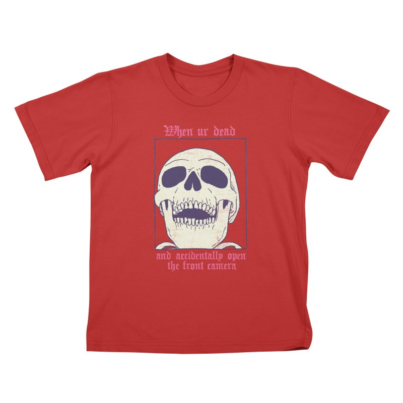 AcciDEADtal Selfie Kids T-Shirt by Hillary White