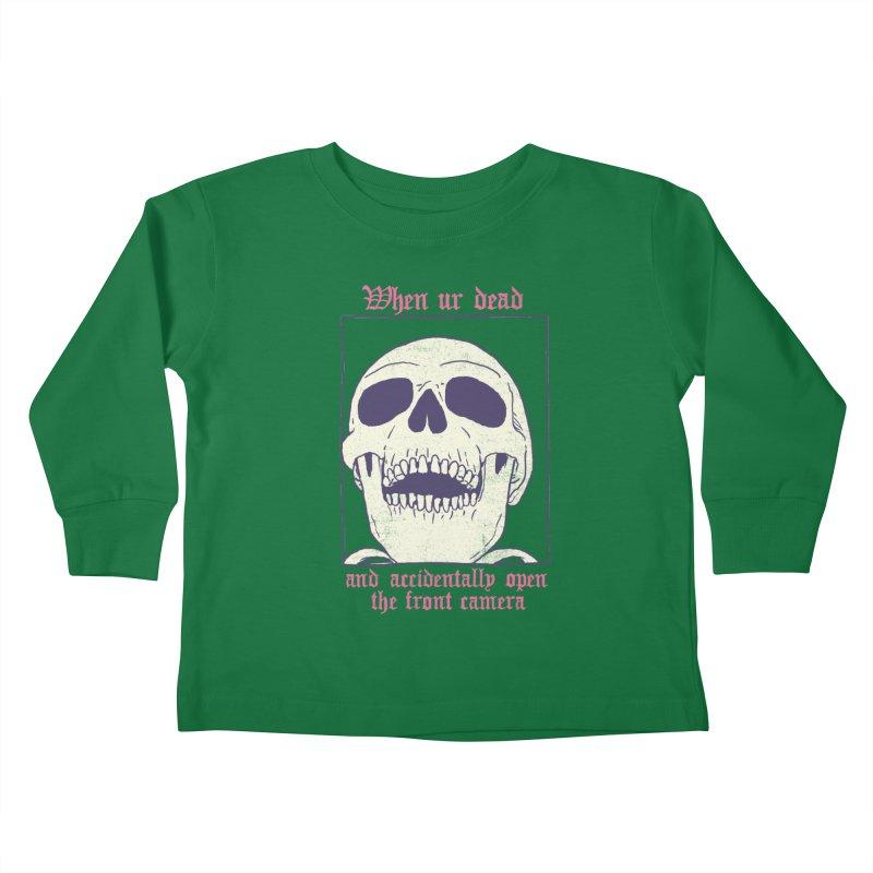 AcciDEADtal Selfie Kids Toddler Longsleeve T-Shirt by Hillary White