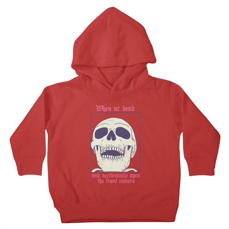 AcciDEADtal Selfie Kids Toddler Pullover Hoody by Hillary White
