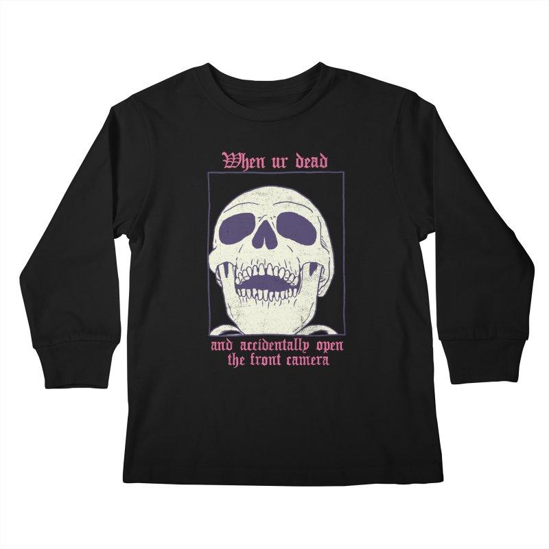 AcciDEADtal Selfie Kids Longsleeve T-Shirt by Hillary White