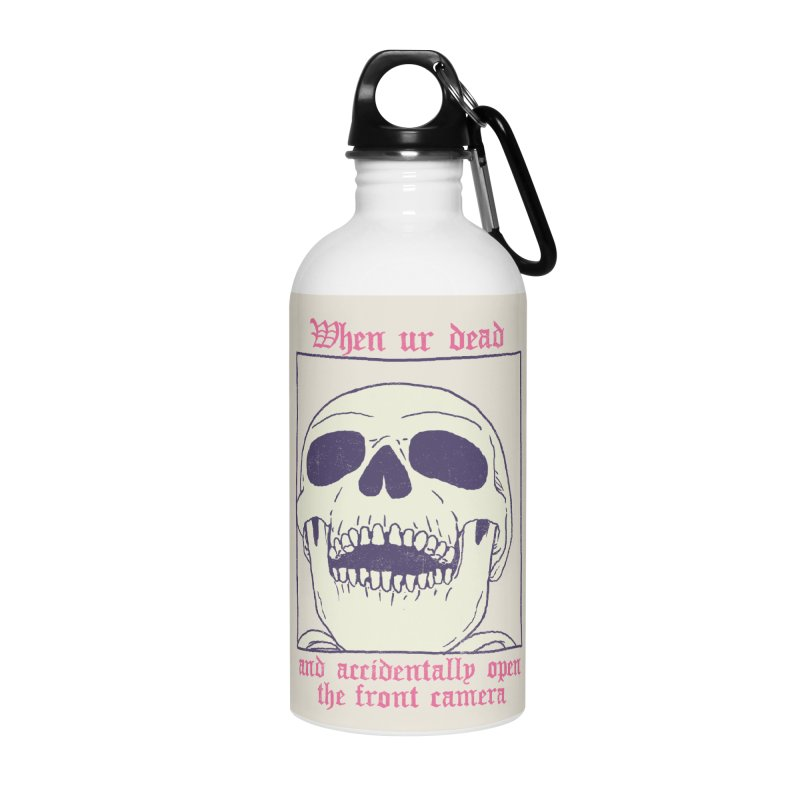 AcciDEADtal Selfie Accessories Water Bottle by Hillary White