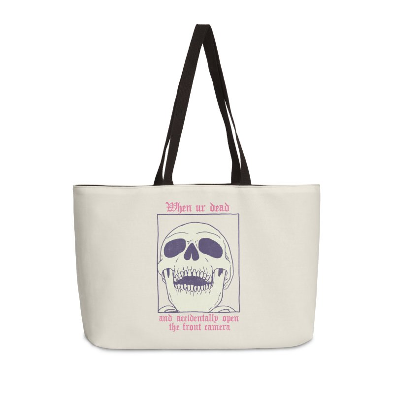 AcciDEADtal Selfie Accessories Weekender Bag Bag by Hillary White