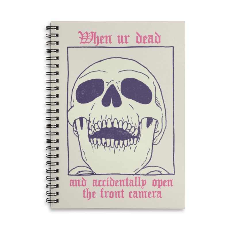 AcciDEADtal Selfie Accessories Lined Spiral Notebook by Hillary White