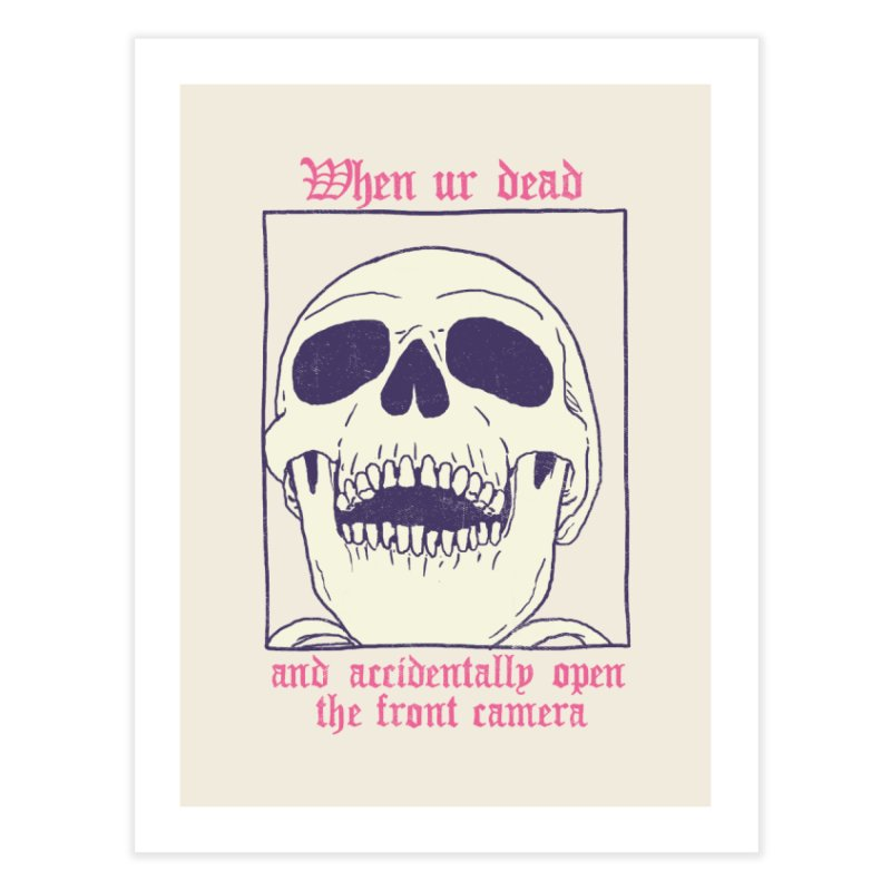 AcciDEADtal Selfie Home Fine Art Print by Hillary White