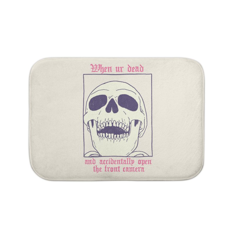 AcciDEADtal Selfie Home Bath Mat by Hillary White