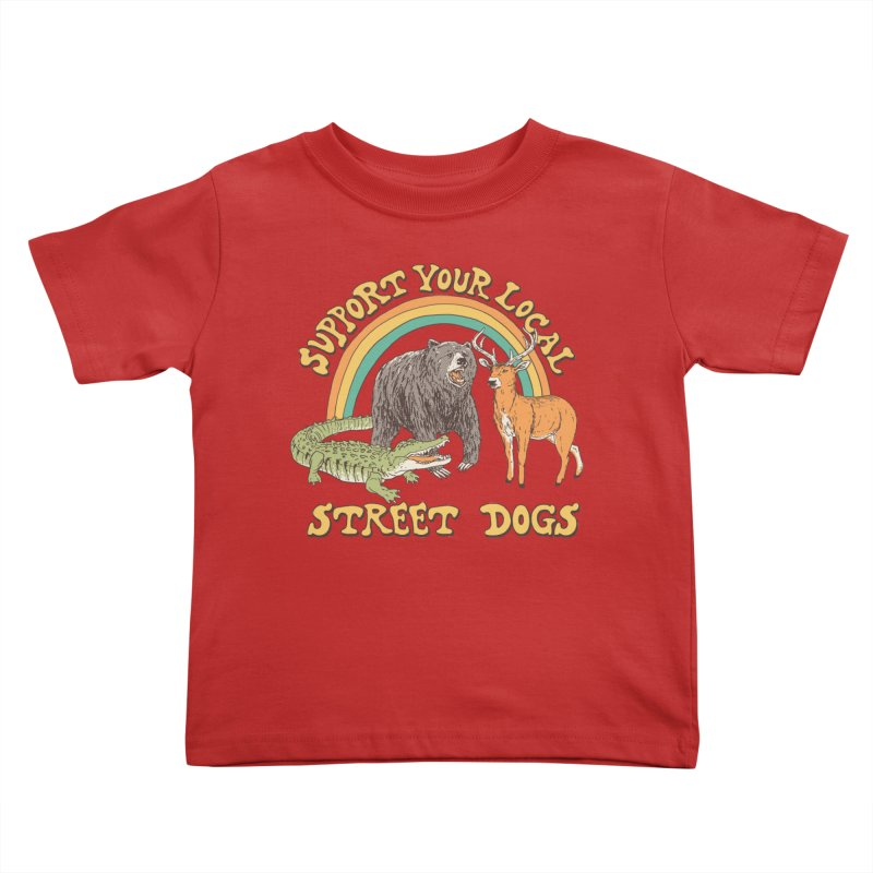 Street Dogs Kids Toddler T-Shirt by Hillary White