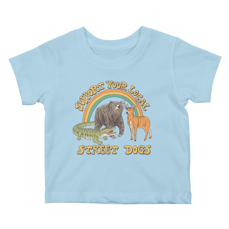 Street Dogs Kids Baby T-Shirt by Hillary White