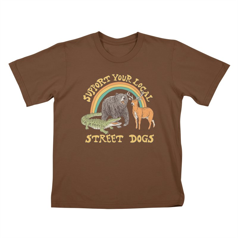 Street Dogs Kids T-Shirt by Hillary White