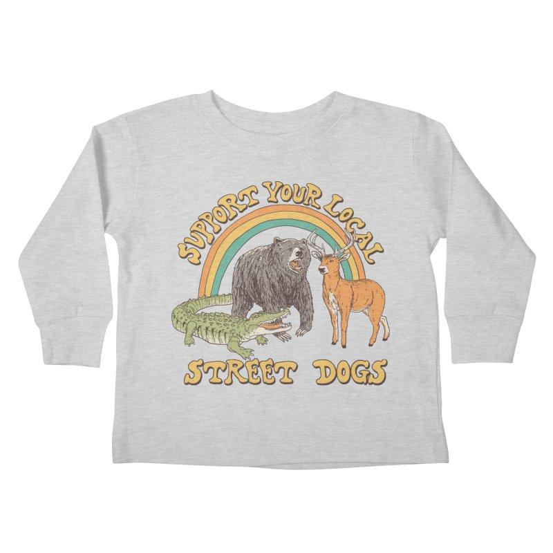 Street Dogs Kids Toddler Longsleeve T-Shirt by Hillary White