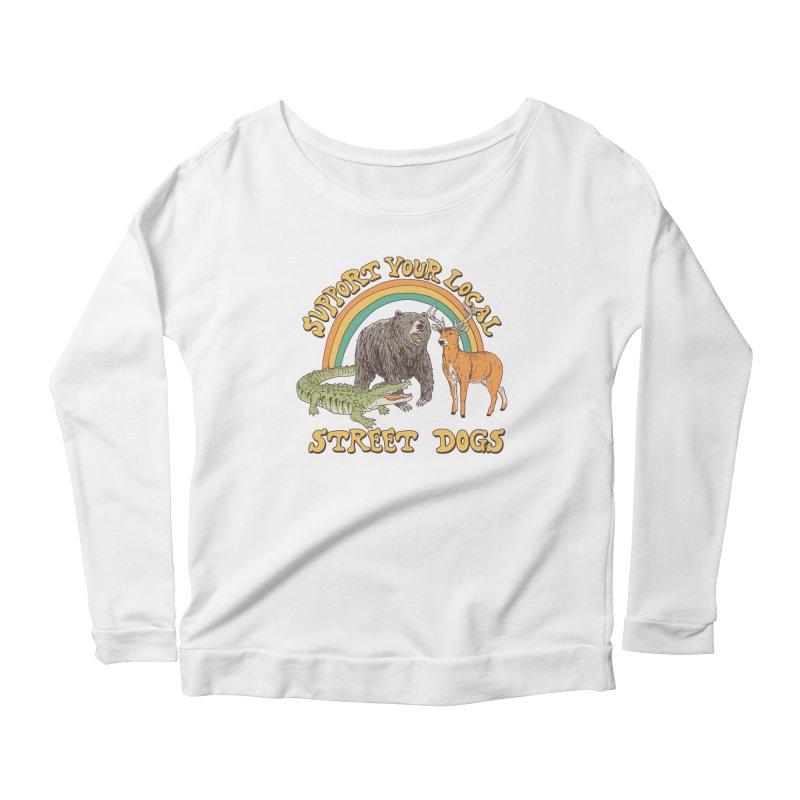 Street Dogs Women's Scoop Neck Longsleeve T-Shirt by Hillary White