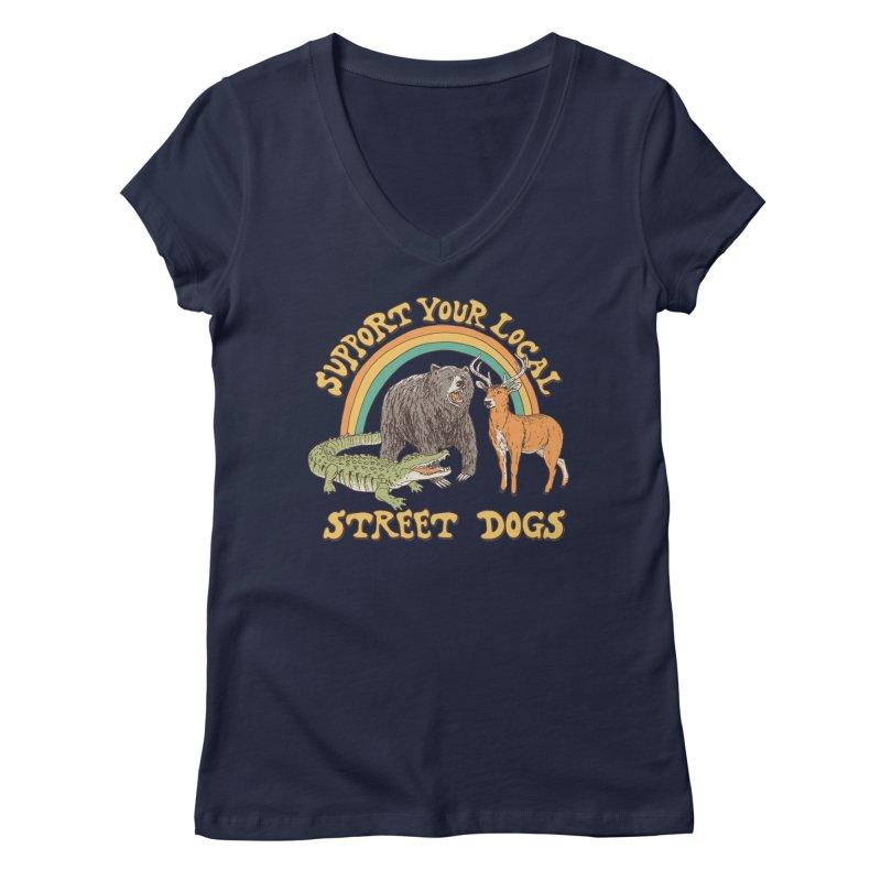 Street Dogs Women's Regular V-Neck by Hillary White